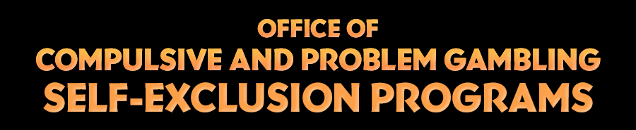 Office of Compulsive and Problem Gambling page header
