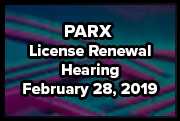 PARX License Renewal Hearing