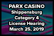 PARX Shippensburg CAT 4 License Hearing