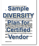 sample diversity plan for certified vendor
