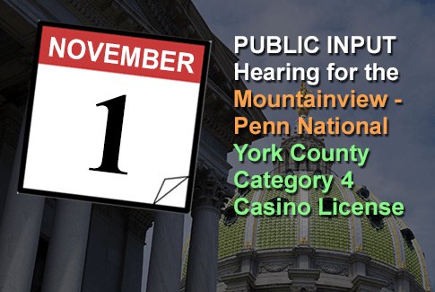 Penn National / Mountainview York County Category 4 License Hearing November 1st, 2018