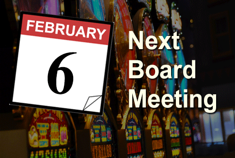 Next Regular Board Meeting February 6th, 2019