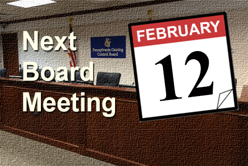 Next Regular Board Meeting February 12th, 2020