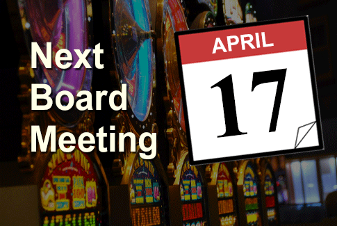 Next Regular Board Meeting April 17th, 2019