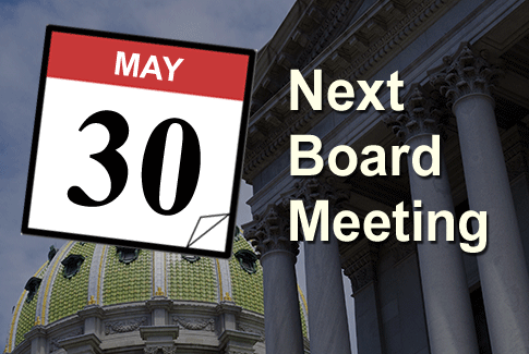 Next Regular Board Meeting May 30th, 2018