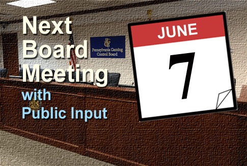 Next Board Meeting June 7th 2017