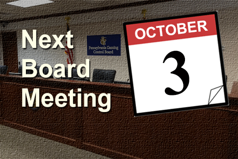 Next Regular Board Meeting October 3rd, 2018