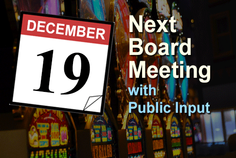 Next Regular Board Meeting December 19th, 2018