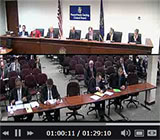 PGCB video player screen shot of meeting